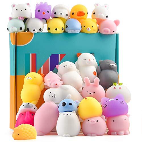 KUUQA 30Pcs Squeeze Animal Toys Squishies Rellenos de huevos de Pascua, Cute Mini...