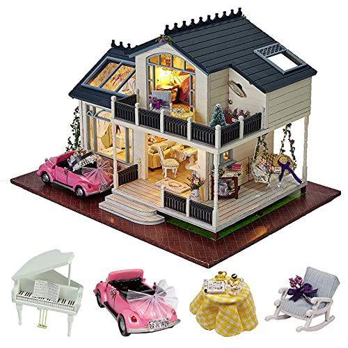 Kit de madera para montaje de casa de muñecas en miniatura, estilo provenzal, con...