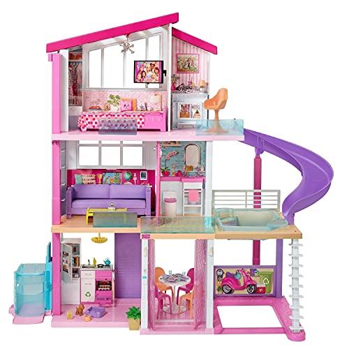 Barbie - Casa de Muñecas con Accesorios, La Casa de Tus Sueños, con Elevador Nuevo...