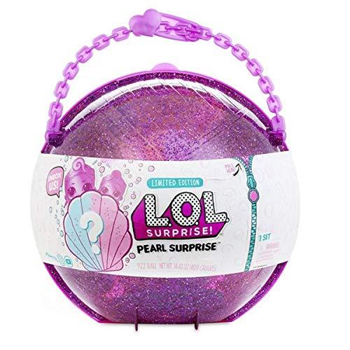LOL Pearl Surprise - Media Esfera con Muñecas LOL y LIL Sisters Exclusivas , Rosa o...