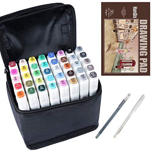 Marker Pen Set Dibujo rotulador Animación Boceto Marcadores Set de doble marcador de...