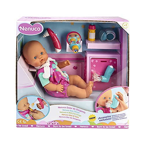 Nenuco - Dolor De Garganta, juega a cuidar a Nenuco malito, incluye accesorios...