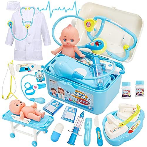 Buyger Maletin Medicos Juguete con Muñecas Bebé Botiquin Doctora Enfermera Juegos...
