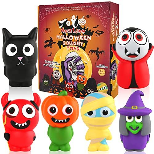 ANGELEMM 6 Pcs Halloween Squishy Gigante Kawaii Juguetes Descompresión Pack...
