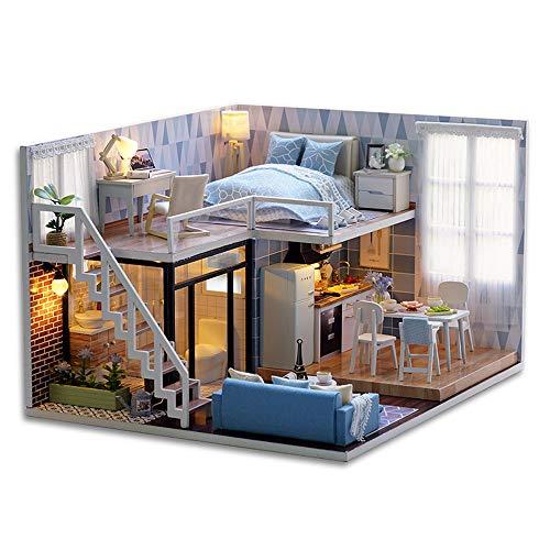 CUTEBEE Miniatura de la casa de muñecas con Muebles, Equipo de casa de muñecas de...