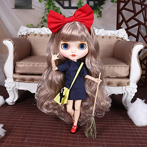 HYZM Blythe Doll 1/6, 19 Joints Blythe Muñeca + Maquillaje Cara + Ropa + Ojos de 4...
