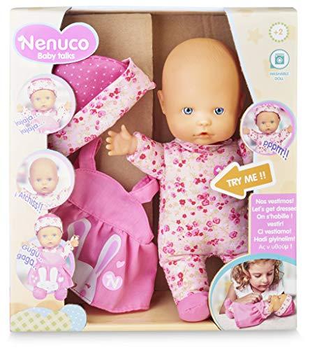 Nenuco-Baby Talks,Nos vestimos! Muñeca con Sonidos para niñas y niños a Partir de...