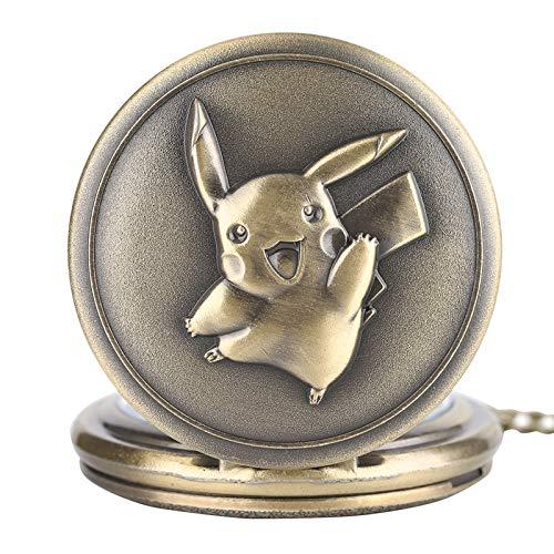 Retro Reloj de bolsillo para hombre, Kawaii Pikachu reloj de bolsillo Japón Anime...