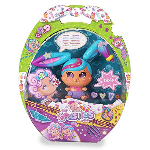 The Bellies From Bellyville Besties The Beastie Trixie Muñeco Bebé, multicolor...