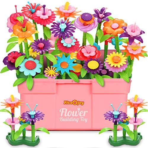 Fivejoy 134PCS Juguetes de Construcción para Jardín de Flores, Jardín Flores...