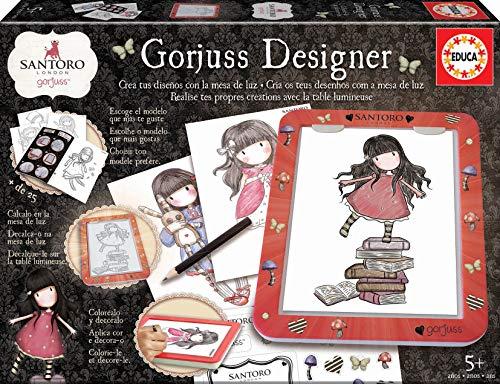 Educa (18238) Mesa De Diseño de luz Gorjuss Designer, colorea y decora, incluye...