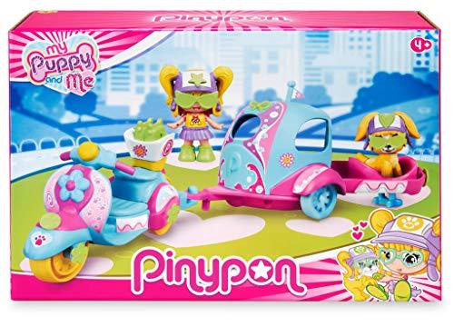 Pinypon. My Puppy and Me. Moto, Remolque y Figuras para niños y niñas de 4 a 8...