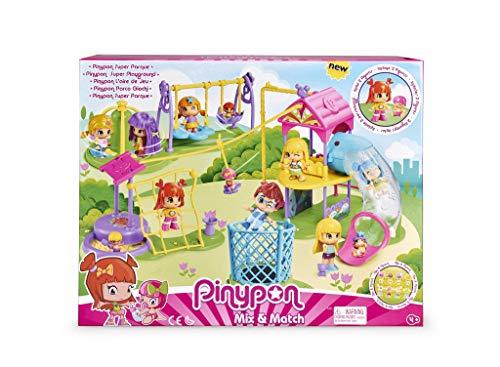 Pinypon Súper Parque - Set de Juguete y Accesorios con 2 Figuras para niños y...