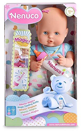 Nenuco - Biberón Mágico Rosa, Muñeco Bebé, para niños y niñas a Partir de 10...