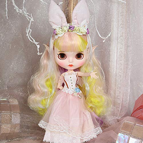 Mecotecn Blythe Doll, 1/6 Muñeca Blythe de 12 Pulgadas con Maquillaje Cara, Globo...