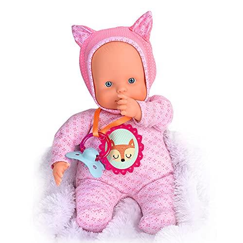 Nenuco - Blandito 5 Funciones Rosa, hace sonidos como un bebé de verdad, se ríe,...