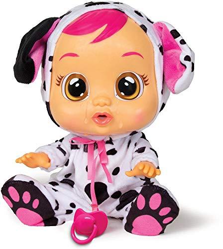 Bebés Llorones Dotty - Muñeca Interactiva que llora de verdad con chupete y pijama...