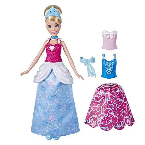 Disney Princess Muñeca de Moda de Cenicienta Princesa con Trajes a presión, Mezcla...