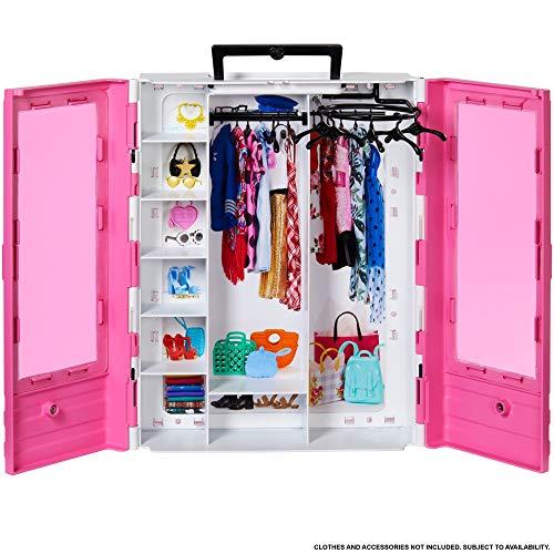 Barbie - Fashionista Armario Portable para Ropa y Accesorios de Muñecas (Mattel...