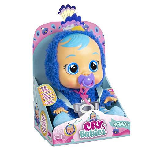 Bebés Llorones Wandy - Muñeca Interactiva que llora de verdad con chupete y pijama...