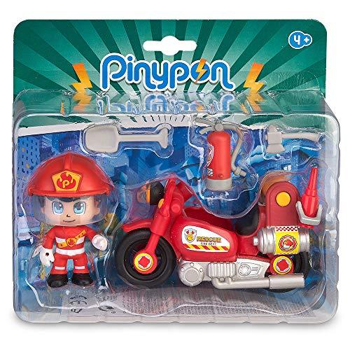 Pinypon Action - Moto de Bombero con 1 figurita, para niños y niñas de 4 a 8 años...